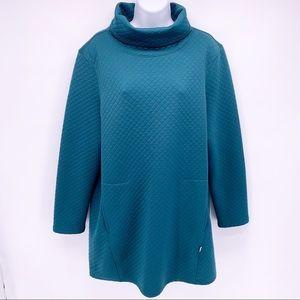 Merrell Quilted Long Sleeve Turtleneck Dress Sz M